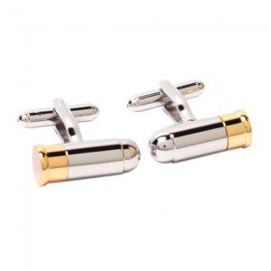 1 Par Novedad dos tonos Gemelos Silver Bullet Oro