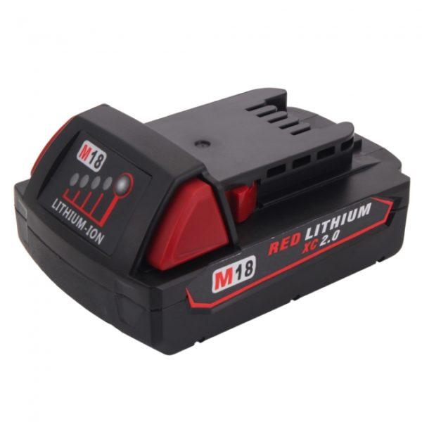 MIL-18V(A) 18V 2000mAh Rechargeable Li-ion Battery for Milwaukee 48-11-1840 M18