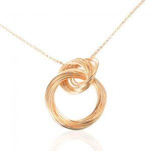 Alambre de acero anillo colgante de la forma de la aleaci¨®n del collar de oro para las mujeres