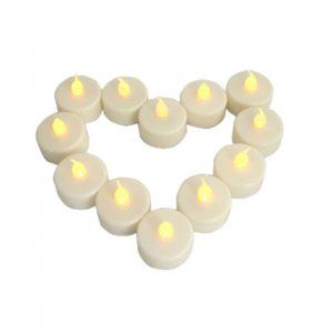12pcs Wedding Candle Light parpadeo de luz sin llama LED Tealight velas de t¨¦