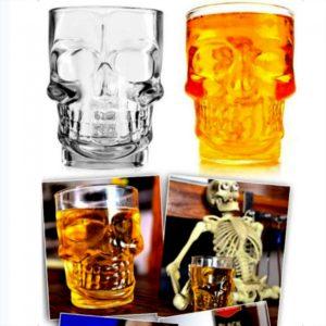 4PCS Crystal Skull Head Shot Glass mercanc¨ªas de consumici¨®n para la barra casera