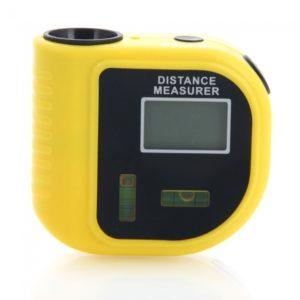 18m CP3010 Mini Estilo Tape L¨¢ser Infrarrojo Medidor de Distancia Amarillo