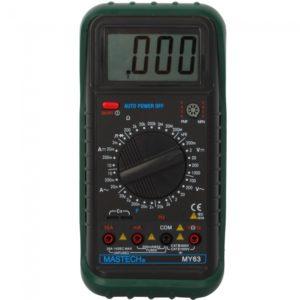 Mastech MY63 3 1 2 digital multifunci¨®n LCD AC DC Mult¨ªmetro