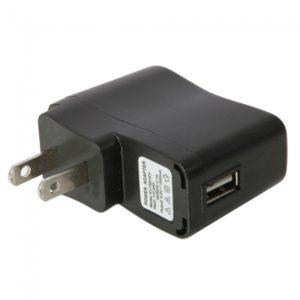 110-240 V AC 1000mAh USB 2-Pin General de Puerto Cargador Adaptador Negro (est¨¢ndar de EE.UU.)