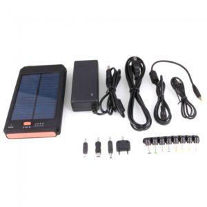 11200mAh 18V Solar Port¨¢til Alimentaci¨®n para equipos PDA celular MP3 Negro