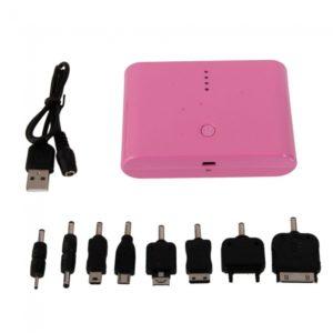 12000mA Dual Interface 4LED energ¨ªa para el tel¨¦fono m¨®vil MP3 PSP rosa