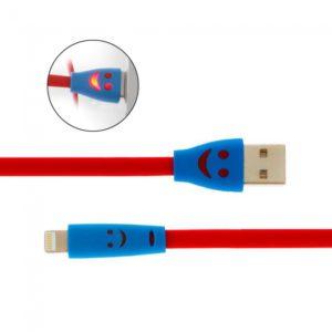 1m 8pin Sonrisa cara patr¨®n de cable de datos de Iluminaci¨®n en iPhone 5 / 5S