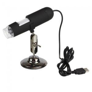 20X-400X 1.3MP USB Microscopio Digital Video Camera Negro