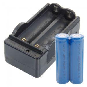 2pcs 18650 3.7V-4.2V 5000MAH Li-ion 18650 cargador de bater¨ªa