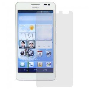 3Pcs PET Shiny Protective Film for Huawei Ascend D2 Transparent