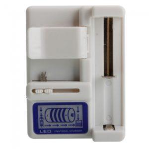 4.2V 350mAh DC cargador de bater¨ªa para la bater¨ªa de litio 18650 Blanca