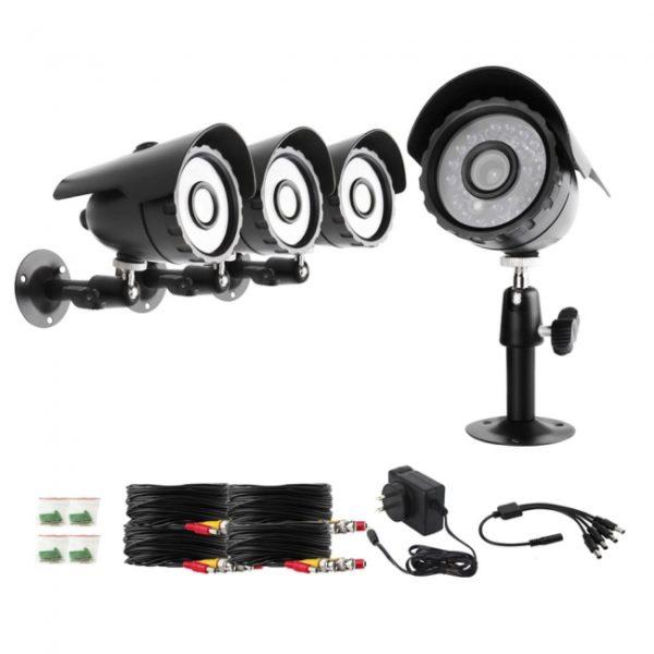 Zmodo ZMD-P4-NARQZ4ZP Home Security 4 Surveillance Cameras Black