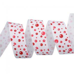 1 1 Yard Burbuja Grosgrain Ribbon Red