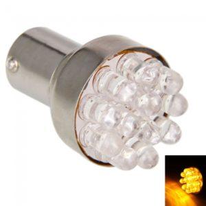 1156/7 S25 12 LED Car Light Bulbs Yellow