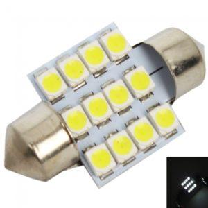 12V 1210 granos de la l¨¢mpara del coche 12 LED SMD Luz Blanca