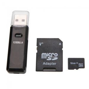 16GB Micro SD Card + SD Card Adapter + Card Reader