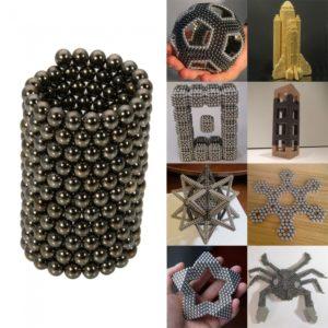 216pcs DIY Buckyballs 3mm Neocube Magic Beads Magnetic Toy Black