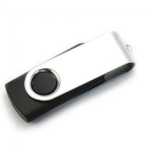 2GB Girar USB Flash Drive Negro