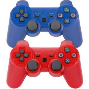 Controladores de 2pcs Bluetooth inal¨¢mbrico para Sony Playstation 3 PS3 Azul y Rojo