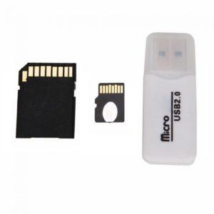 32GB Micro SD Card + SD Card Adapter + Card Reader White