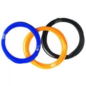 3pcs 2.9m ABS Filament for 3D Printer Pen Blue and Black and Orange