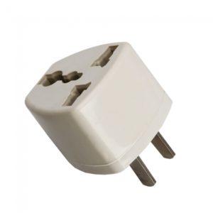 Reino Unido / UE / UA para EE.UU. Plug Power convertidor adaptador de viaje Blanca