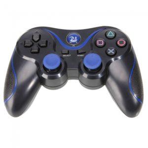 Control inal¨¢mbrico para PS3/PC Negro con la raya azul