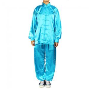 1.1m Tai-chi Ropa Kung Fu Artes Marciales traje azul verde