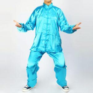 1.2m Tai-chi Ropa Kung Fu Artes Marciales traje azul verde
