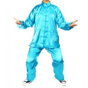 1.7m Kung Fu Artes Marciales Ropa Tai chi-Traje Azul Verde