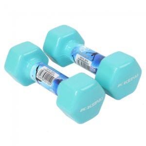 2pcs 10 Libras Home Gym Sport hexagonal Hex Pesas Cielo Azul