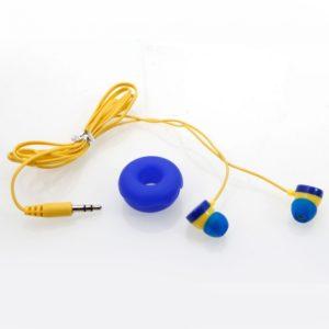 3.5MM Puerto KA-10 del cable del auricular de color azul oscuro