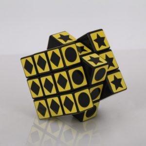 3x3x3 XWH Patr¨®n Geometr¨ªa Rompecabezas Rubiks Cube Negro